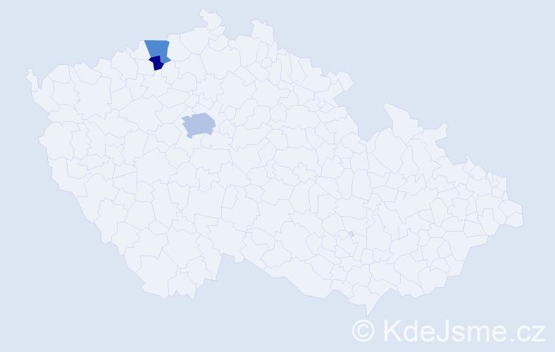 Příjmení: 'Karnoub', počet výskytů 7 v celé ČR