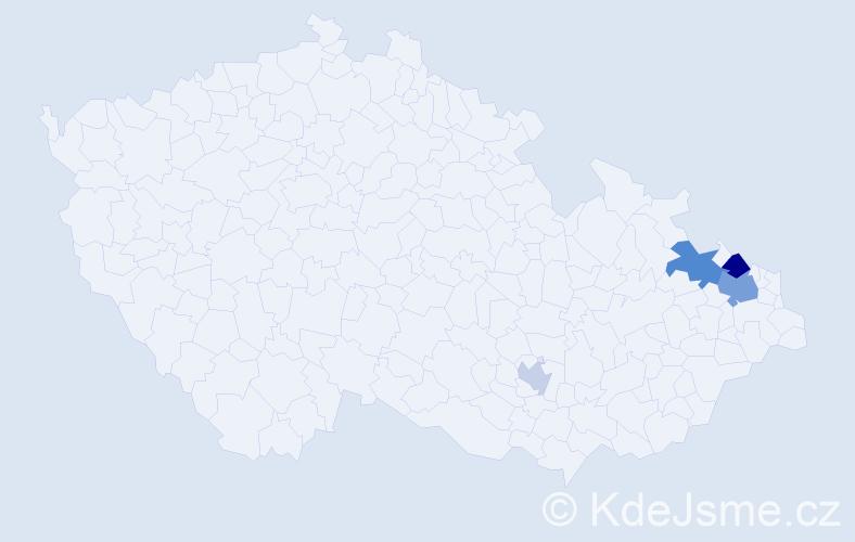 Příjmení: 'Flaschka', počet výskytů 8 v celé ČR