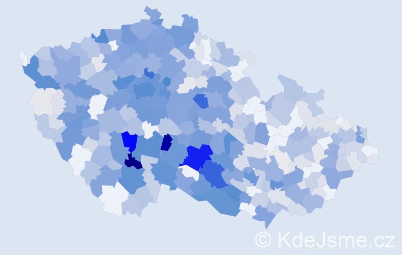 Příjmení: 'Kalinová', počet výskytů 2619 v celé ČR