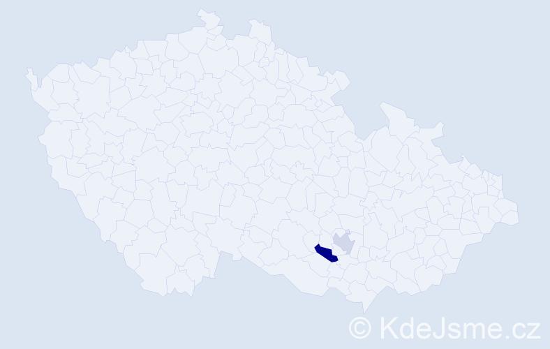 Příjmení: 'Firsow', počet výskytů 5 v celé ČR
