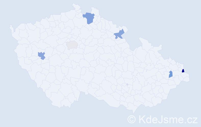 Příjmení: 'Górská', počet výskytů 9 v celé ČR
