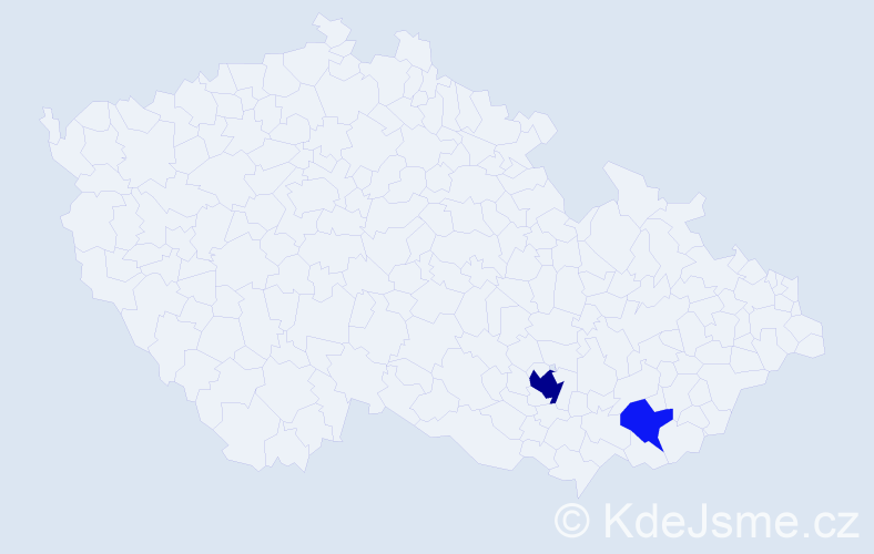 Příjmení: 'Feinbergová', počet výskytů 5 v celé ČR