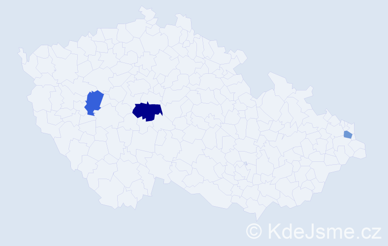 Příjmení: 'Beničková', počet výskytů 4 v celé ČR