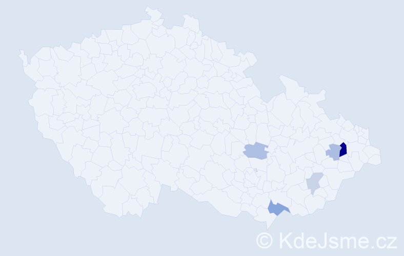 Příjmení: 'Hanigovský', počet výskytů 11 v celé ČR
