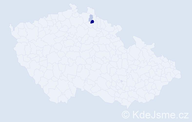 Příjmení: 'Kalpakcis', počet výskytů 6 v celé ČR