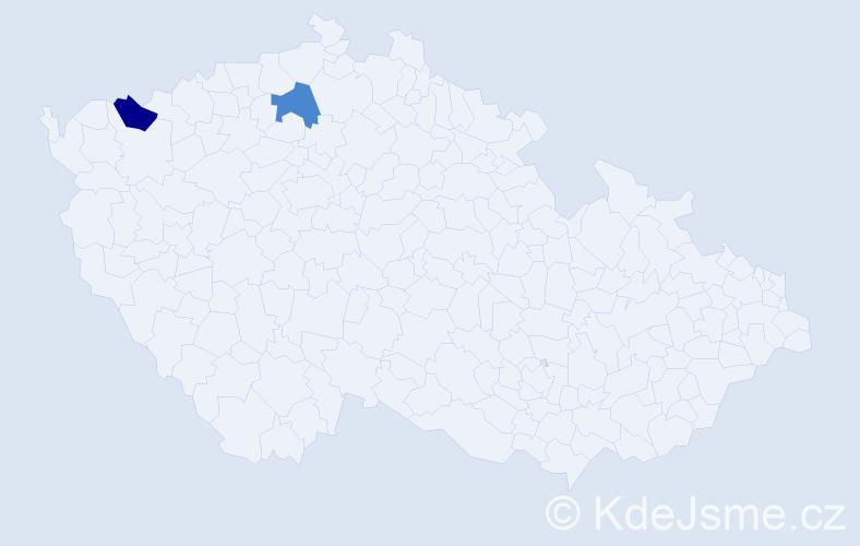 Příjmení: 'Arazímová', počet výskytů 6 v celé ČR