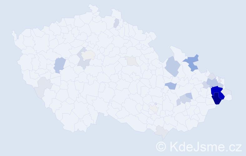 Příjmení: 'Drabina', počet výskytů 109 v celé ČR