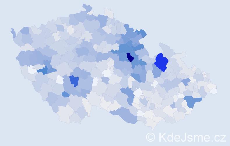 Příjmení: 'Kašpar', počet výskytů 4664 v celé ČR