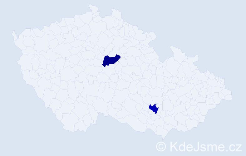 Příjmení: 'Lacrampe', počet výskytů 4 v celé ČR