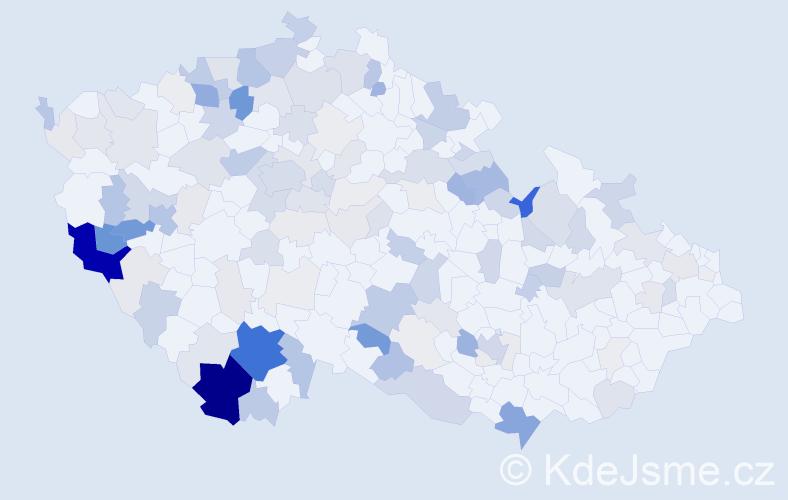 Příjmení: 'Anderle', počet výskytů 448 v celé ČR
