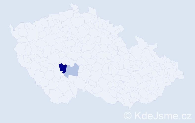 Příjmení: 'Erfaňuková', počet výskytů 3 v celé ČR
