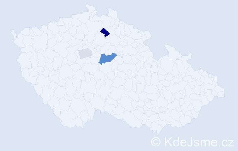 Příjmení: 'Cavrnochová', počet výskytů 5 v celé ČR