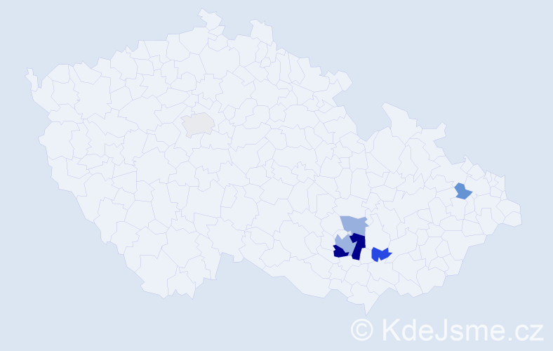 Příjmení: 'Čandrla', počet výskytů 14 v celé ČR