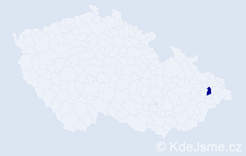 """Příjmení: '""""Barglová Thomke""""', počet výskytů 1 v celé ČR"""