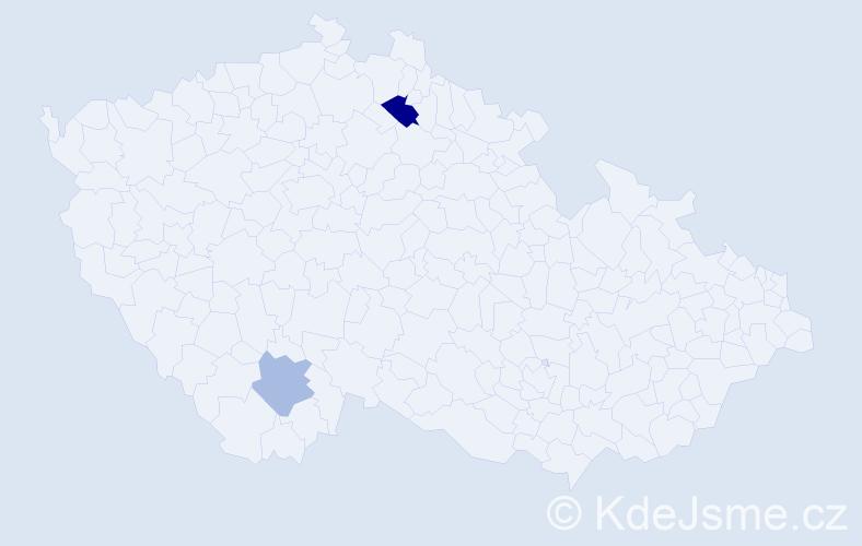 Příjmení: 'Leahy', počet výskytů 3 v celé ČR