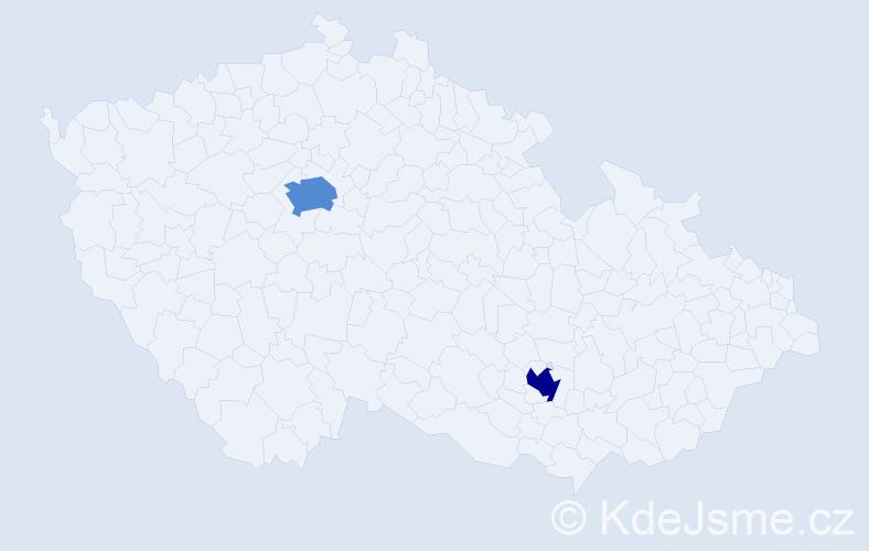 Příjmení: 'Auermüller', počet výskytů 7 v celé ČR