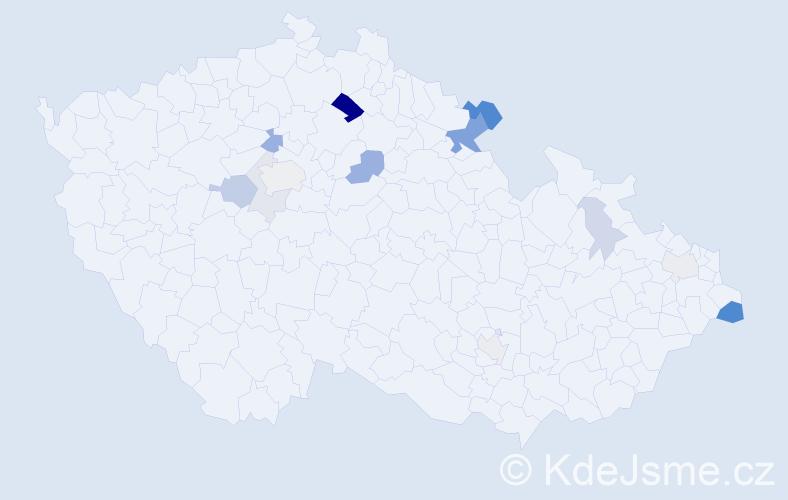 Příjmení: 'Geisslerová', počet výskytů 31 v celé ČR