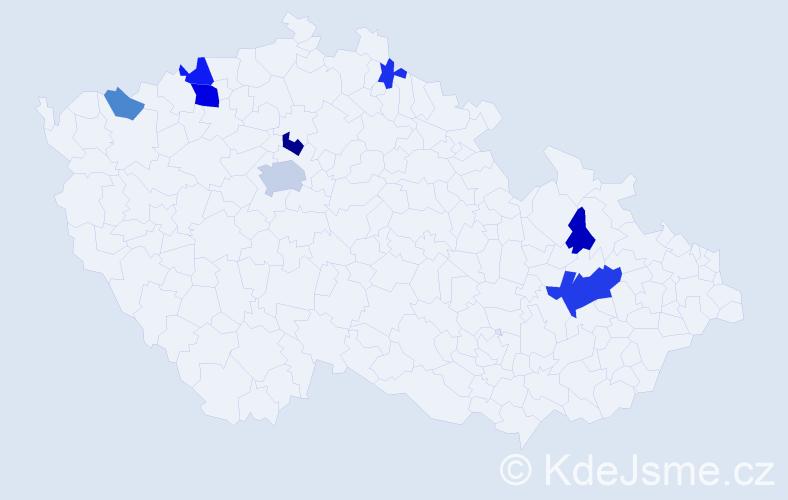 Příjmení: 'Falesová', počet výskytů 20 v celé ČR