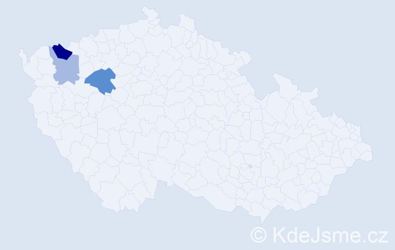 Příjmení: 'Kalánová', počet výskytů 11 v celé ČR