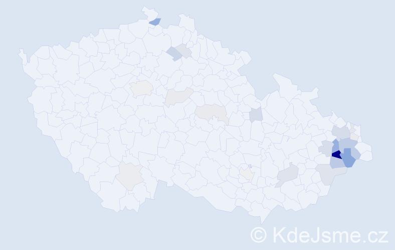 Příjmení: 'Bjačková', počet výskytů 65 v celé ČR