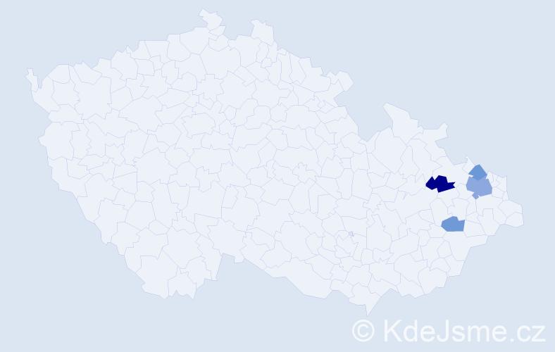 Příjmení: 'Gargosch', počet výskytů 6 v celé ČR