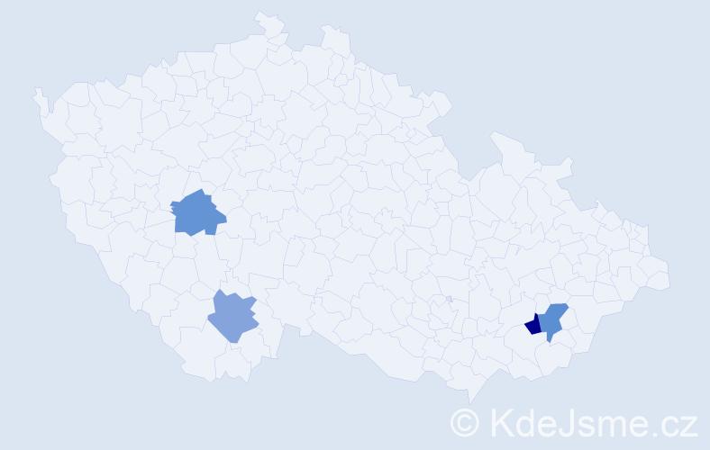 Příjmení: 'Dzurus', počet výskytů 14 v celé ČR