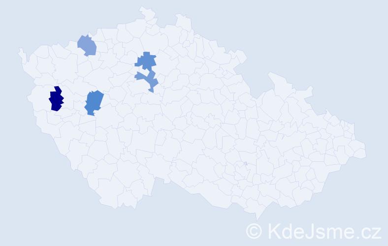 Příjmení: 'Fijala', počet výskytů 17 v celé ČR