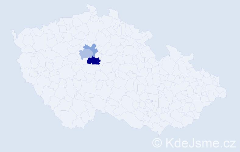 Příjmení: 'Ilczyszyn', počet výskytů 9 v celé ČR