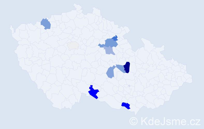 Příjmení: 'Federselová', počet výskytů 31 v celé ČR