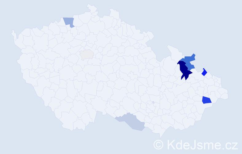 Příjmení: 'Gesierichová', počet výskytů 17 v celé ČR