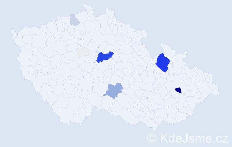Příjmení: 'Borseník', počet výskytů 18 v celé ČR