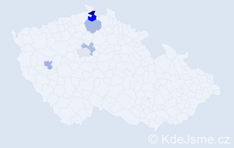 Příjmení: 'Feuereisl', počet výskytů 10 v celé ČR