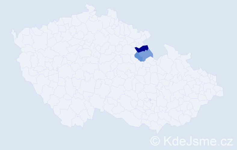 Příjmení: 'Kirschlager', počet výskytů 4 v celé ČR