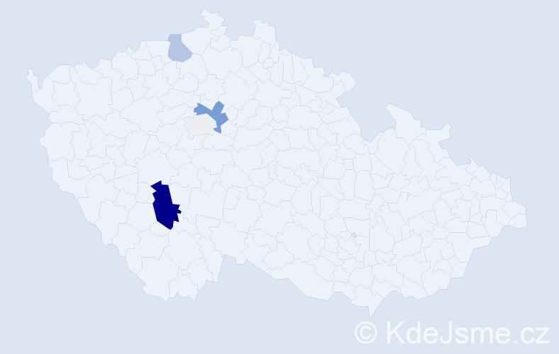 Příjmení: 'Leistner', počet výskytů 16 v celé ČR