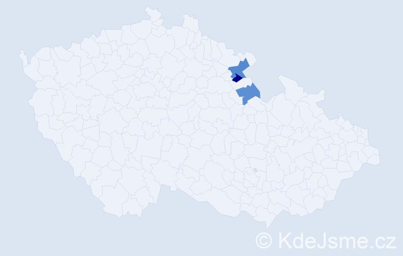 Příjmení: 'Krbalová', počet výskytů 4 v celé ČR