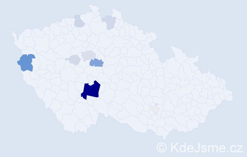 Příjmení: 'Basík', počet výskytů 44 v celé ČR