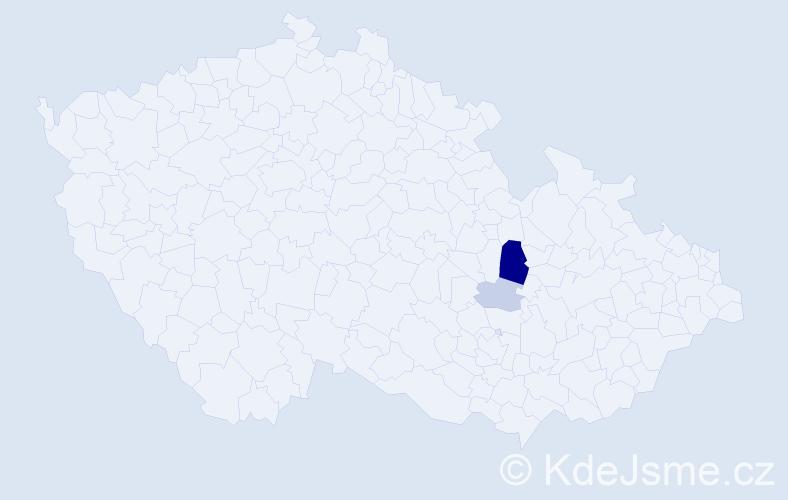 Příjmení: 'Goppold', počet výskytů 7 v celé ČR