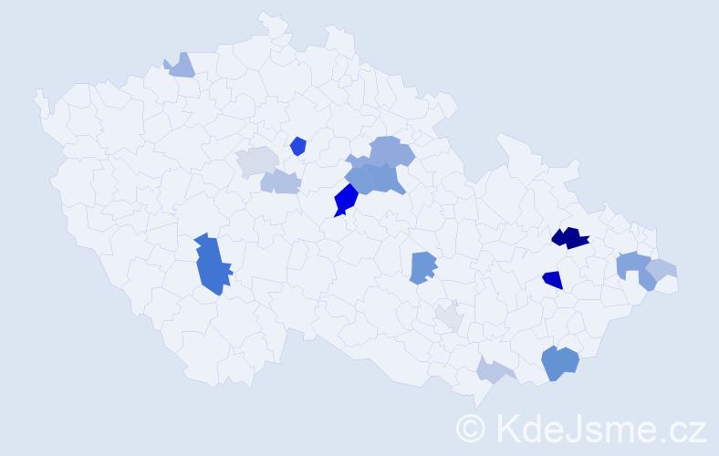 Příjmení: 'Adams', počet výskytů 38 v celé ČR