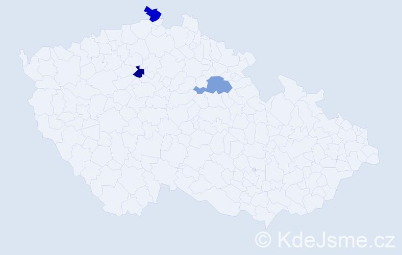 Příjmení: 'Branse', počet výskytů 9 v celé ČR