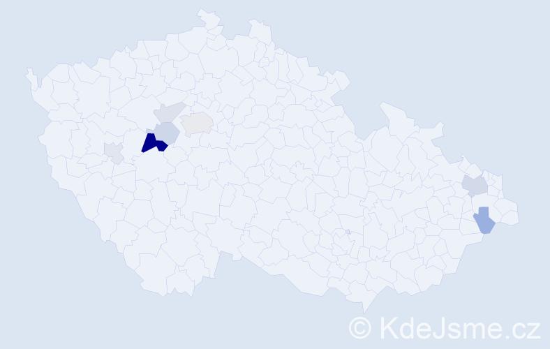 Příjmení: 'Ešková', počet výskytů 17 v celé ČR