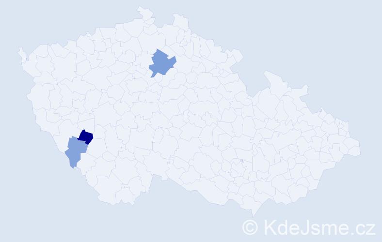 Příjmení: 'Leč', počet výskytů 7 v celé ČR