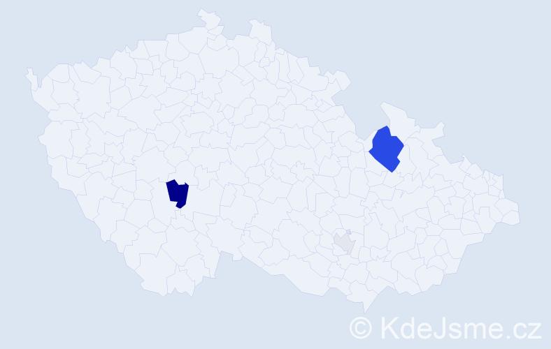 Příjmení: 'Floryčková', počet výskytů 11 v celé ČR