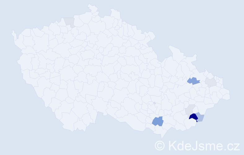 Příjmení: 'Červeňanová', počet výskytů 15 v celé ČR