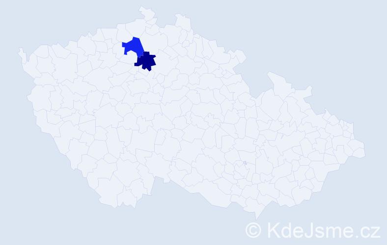 Příjmení: 'Daniluková', počet výskytů 6 v celé ČR