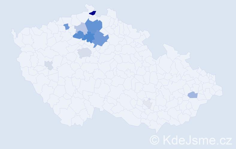 Příjmení: 'Cedrychová', počet výskytů 26 v celé ČR