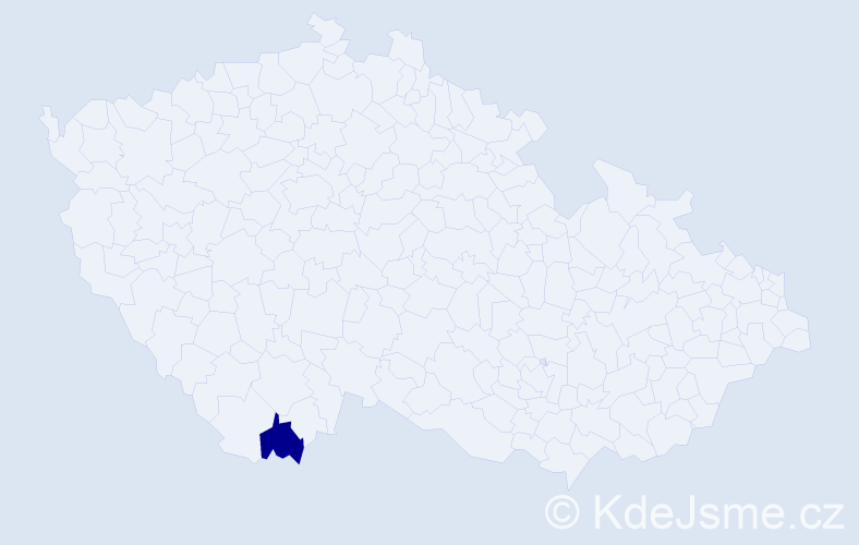 Příjmení: 'Dančenkov', počet výskytů 1 v celé ČR