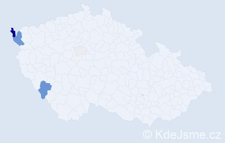 Příjmení: 'Kadzioľka', počet výskytů 6 v celé ČR