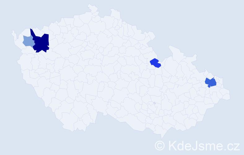 Příjmení: 'Čižnár', počet výskytů 12 v celé ČR