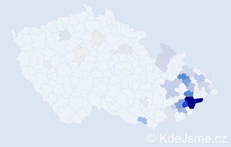 Příjmení: 'Karola', počet výskytů 153 v celé ČR