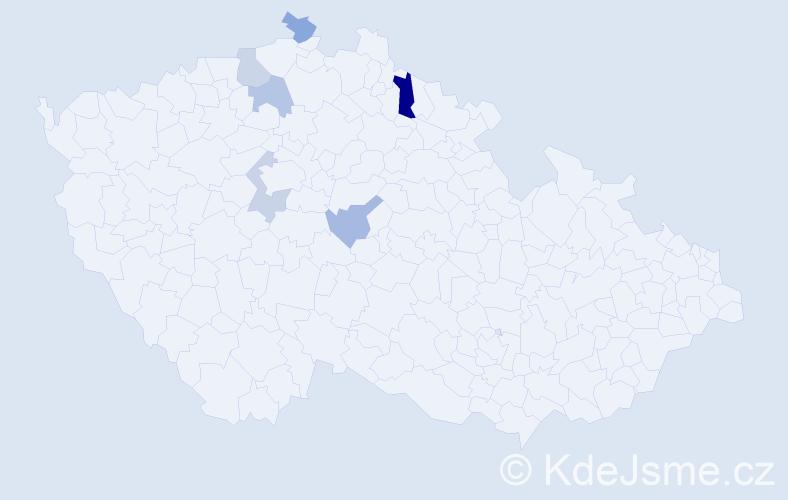 Příjmení: 'Quirsfeldová', počet výskytů 8 v celé ČR
